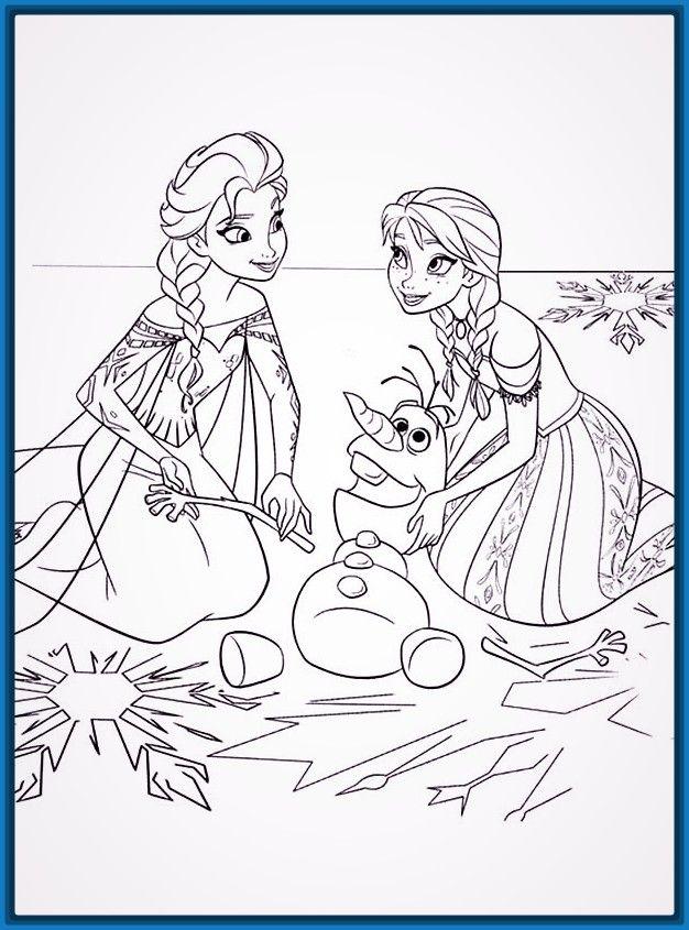 Dibujos para colorear de navidad para niños disney | Para Colorear