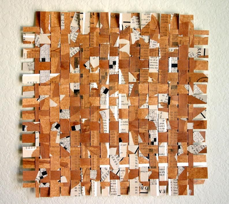 Crossword Paper Weaving Wall Art 10x10 Crossword Art Collage