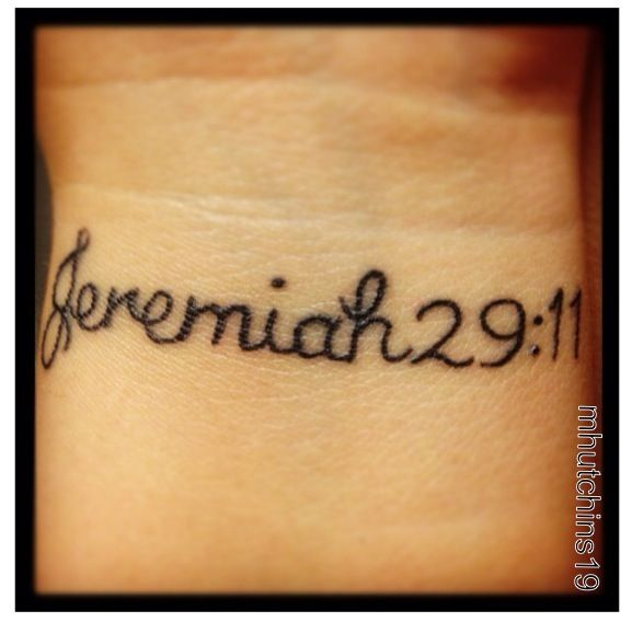 first tattoo a daily reminder that god has great plans for me jeremiah 29 11 tattoos. Black Bedroom Furniture Sets. Home Design Ideas