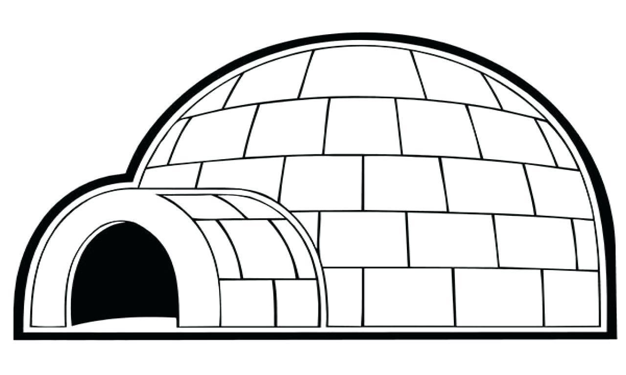 Fine Coloring Page Igloo that you must know, You're in
