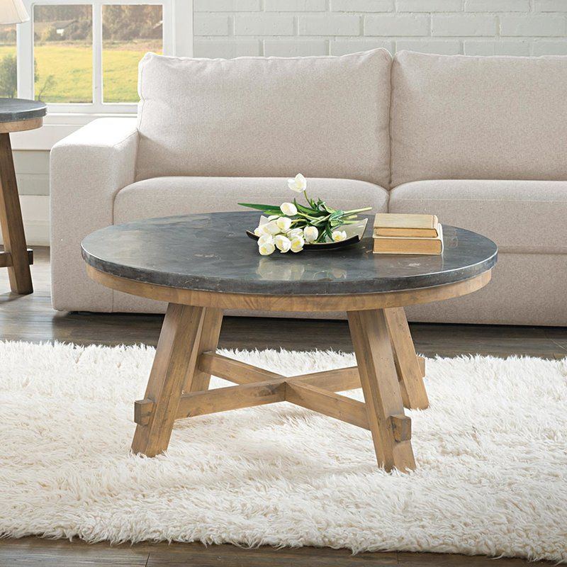 koepp solid wood 4 legs coffee table