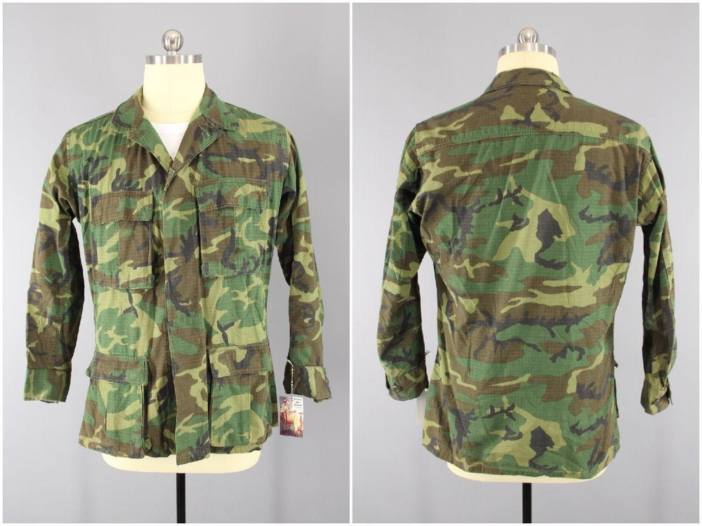 1970 s Vintage Woodland ERDL Camo US Army RDF Special Forces Jacket ... e78a75d8c556
