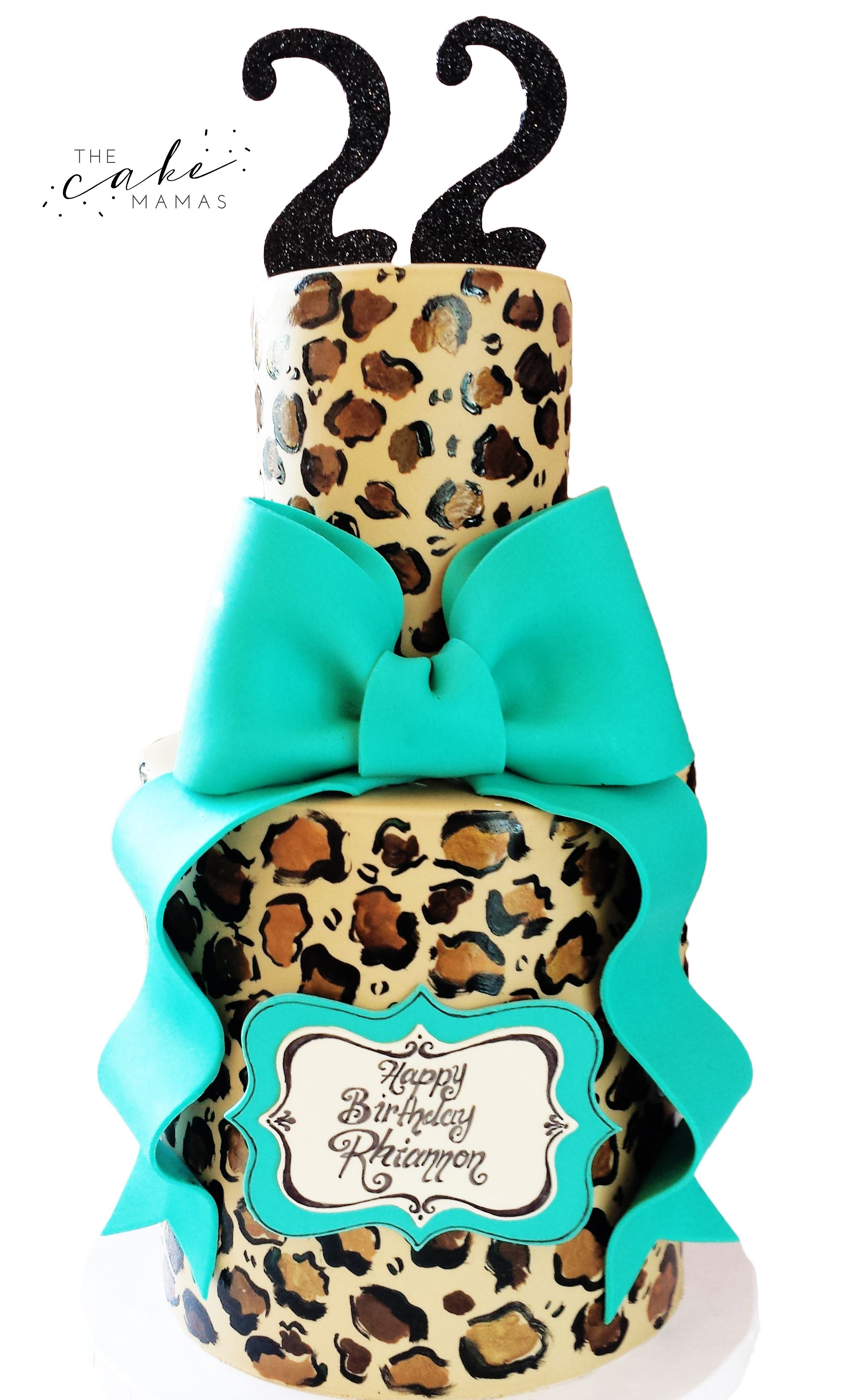 a5cc5e7068bf Cheetah print and Tiffany blue birthday cake! call or email to order your  celebration cake today!  cheetah  Tiffany  tiffanyblue  cheetahprint   birthday ...