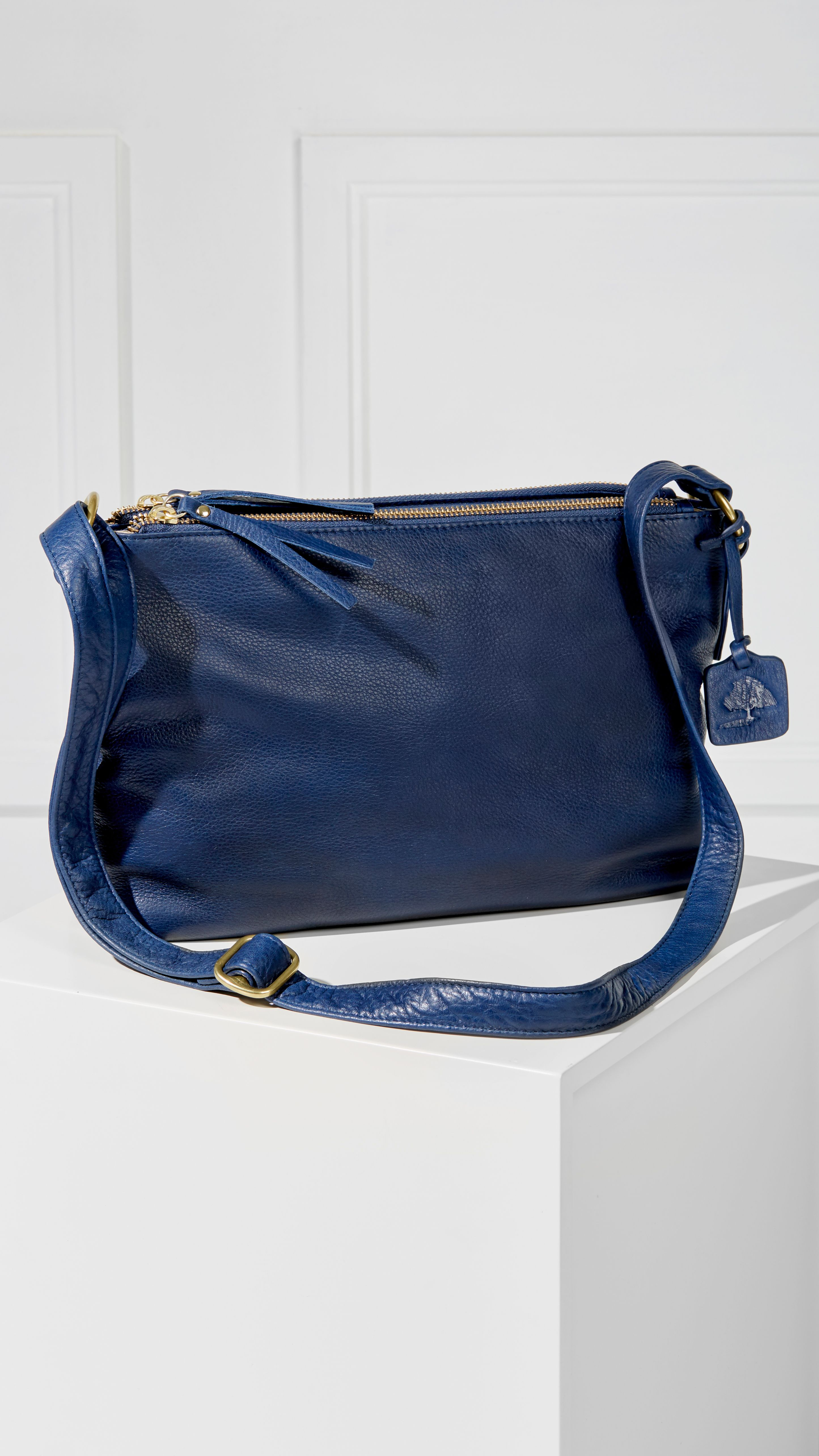 Alexa Double-Zip Handbag • Cleverly organized luxe leather handbag for her  Compartmentalize stylishly and 92dcf393d2ddd