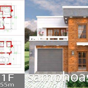Home Design Plan 7x15m With 5 Bedrooms Samphoas Plan Denah Desain Rumah Denah Lantai Rumah Desain Rumah