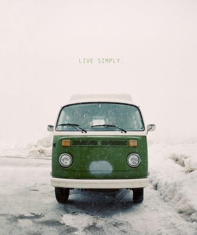 Live Simply Art Print By Leslee Mitchell Society6 Vintage Volkswagen Volkswagen Van Vw Art