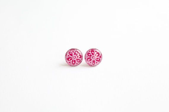 Small studs small stud earringspurple studs purple by Kadrizinha, £10.49
