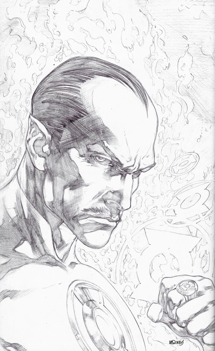 Ivan reis green a lantern new 52 issue 1 pencil cover sketch