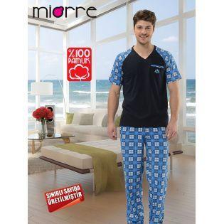 Miorre Kisa Kol Erkek Pijama Takimi Giyim Alisveris Indirim Trendylodi Icgiyim Erkek Erkekicgiyim Pijama Giyim Canta