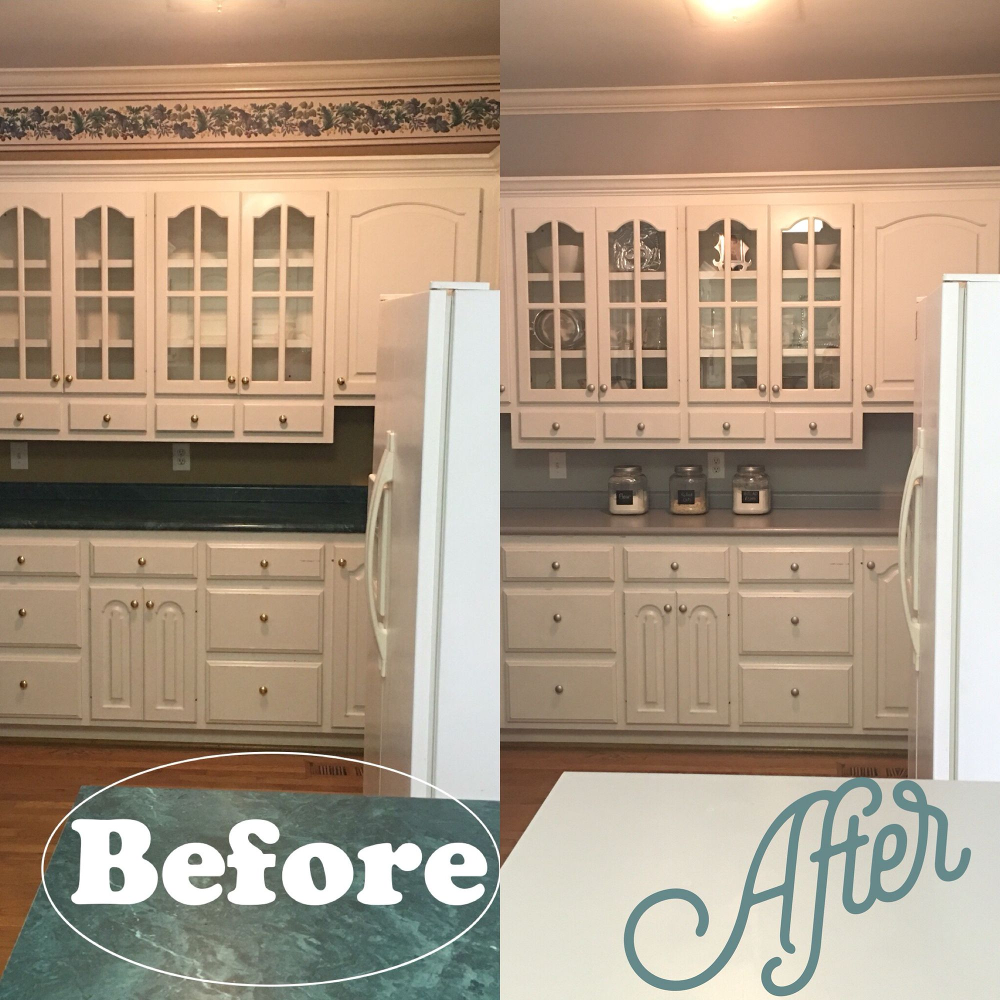 Uncategorized Rustoleum Kitchen Countertop Paint kitchen transformation its all paint cheap easy rustoleum countertop in grey