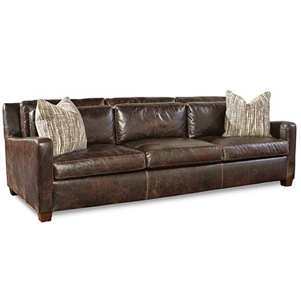 Huntington House 7237 20 Sofa Shown In Distressed Bomber Jacket
