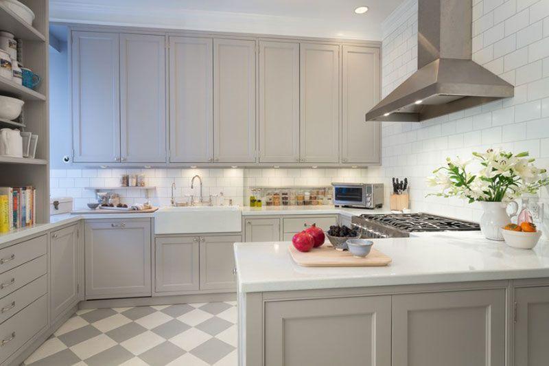 Bemerkenswerte Weiß Und Grau Küche Designs #Küche