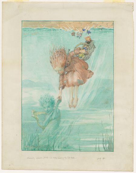 Honor Charlotte Appleton Original Art, Watercolour Children's Book Art