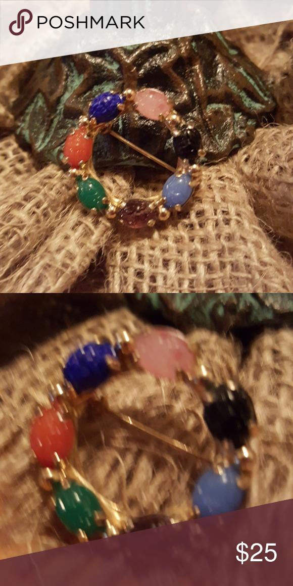 Vintage Gold Tone Genuine  Scarab Brooch Vintage Gold Tone Genuine  Scarab Brooch Vintage Jewelry Brooches