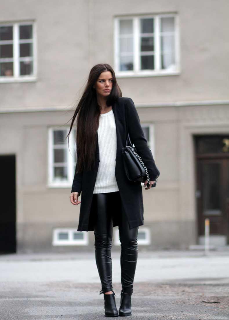37 Formas Estilosas De Usar Pantalones De Cuero – Cut   Paste – Blog de Moda 3d3178be6eeb