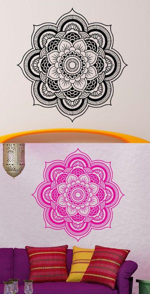 Wall Decal Vinyl Sticker Art Decor Mandala Menhdi Om Indian Hindu