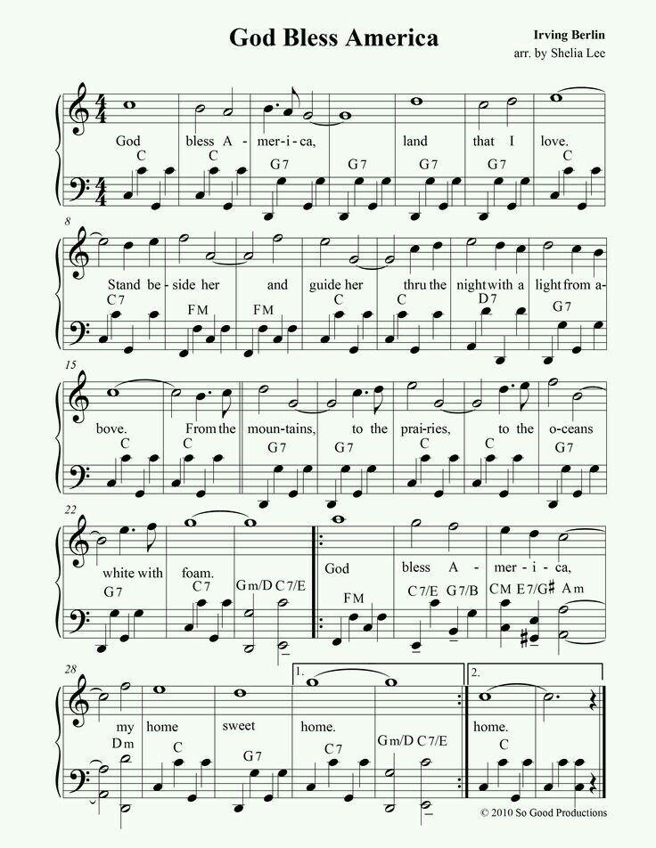 Pin By Tammy Hosey On God Bless America Hymn Music Hymn Sheet