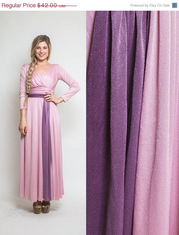 Oh how I need this! On SALE Vintage 70s DISCO pink purple goddess PARTY by Raxclothing