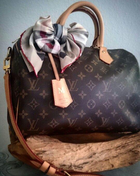 706143622eeb Louis Vuitton Speedy Bandouliere 30 Monogram Clochette Burberry Bow ...