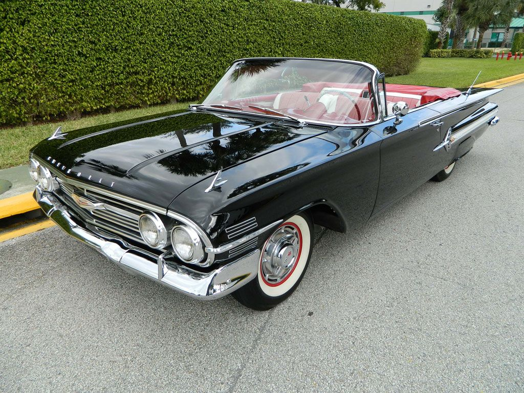 Impala 67 chevy impala 4 door for sale black : 1960 Chevrolet Impala Convertible, Baltic Blue with White Accent ...