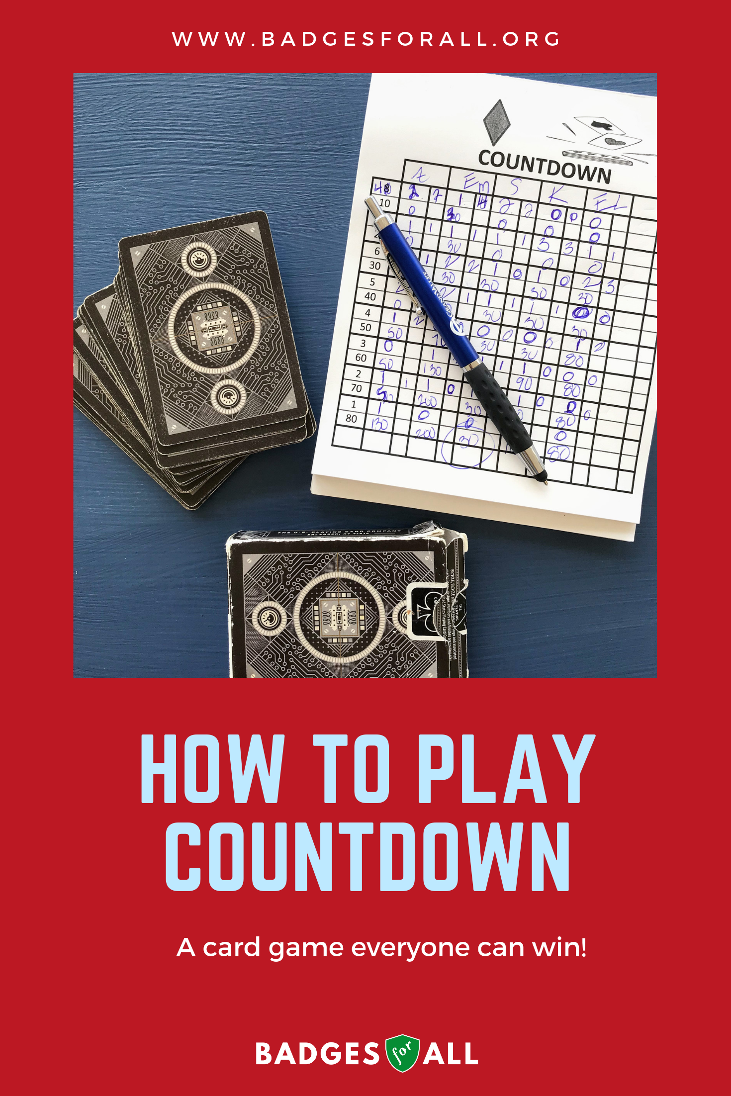 Card Game Party Euchre Tournament, Countdown & Cribbage