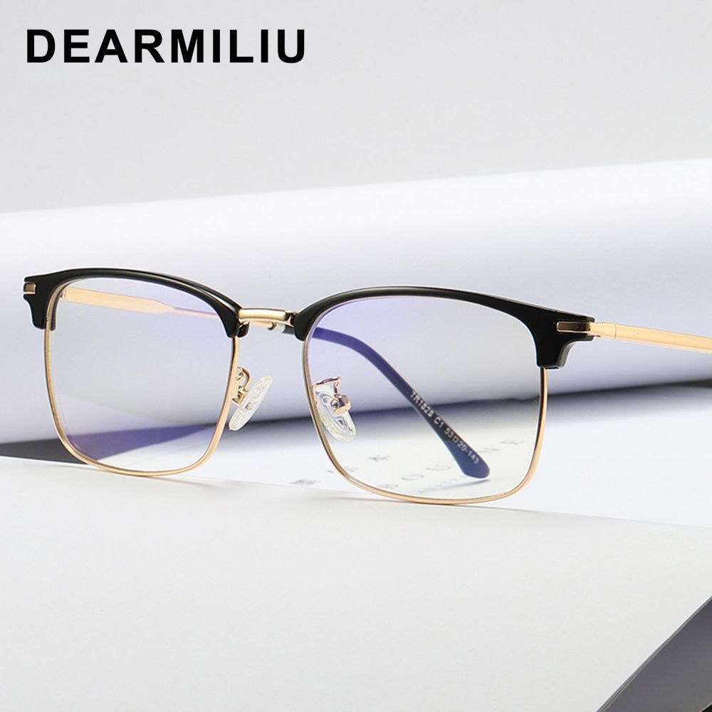 Dearmiliu Tr90 Frame Square Anti Blue Light Blocking Glasses Led