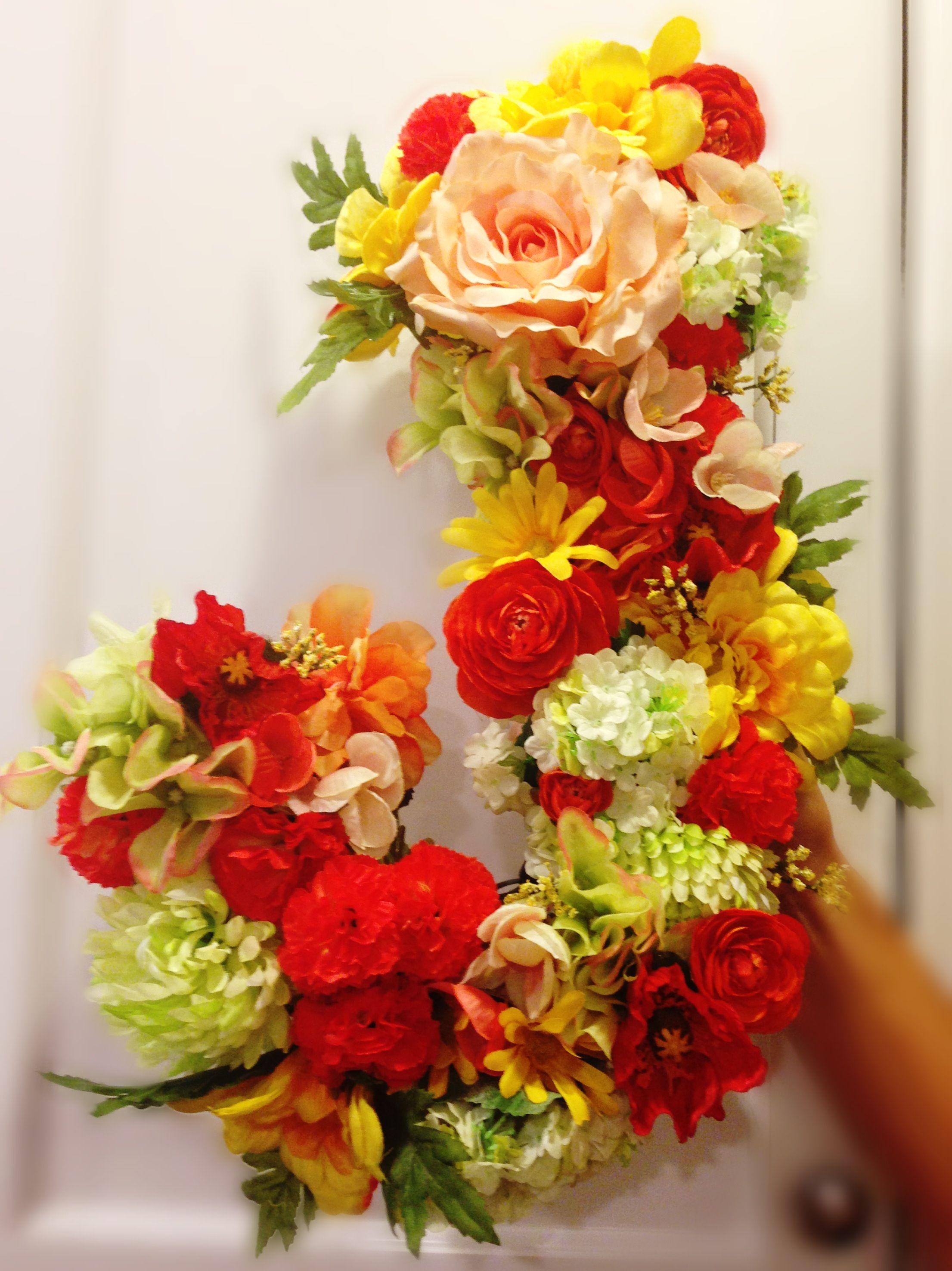 Flower letters  dorm decoration DIY  Wedding