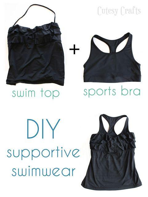 dabf1f21e60aa swim top + sports bra   DIY supportive swimwear!