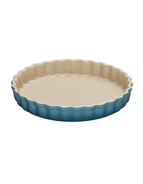 Le Creuset Lifetime Guarantee: Le Creuset - 24cm Fluted Flan Dish In Teal