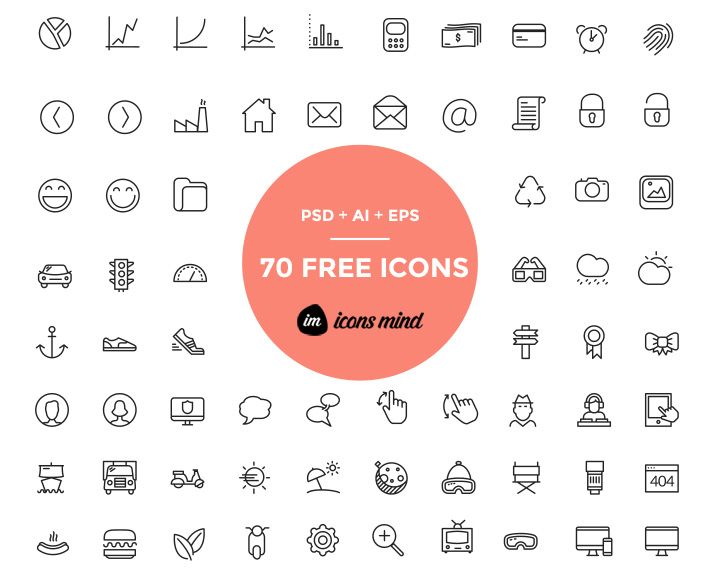 70 Free Psd Icons By Iconsmind Freebiesbug Free Icon Set Free