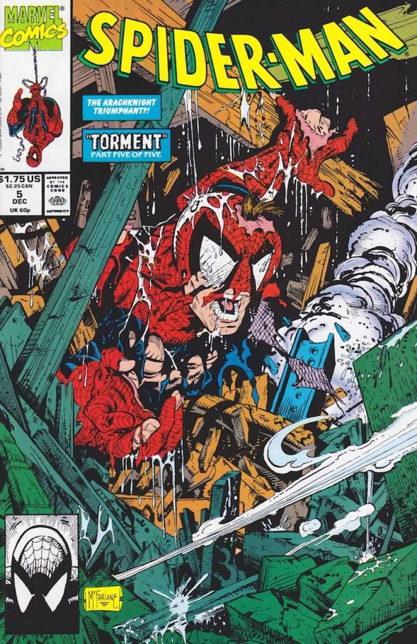 Todd McFarlane, green edition bagged USA, 1990 Spiderman # 1