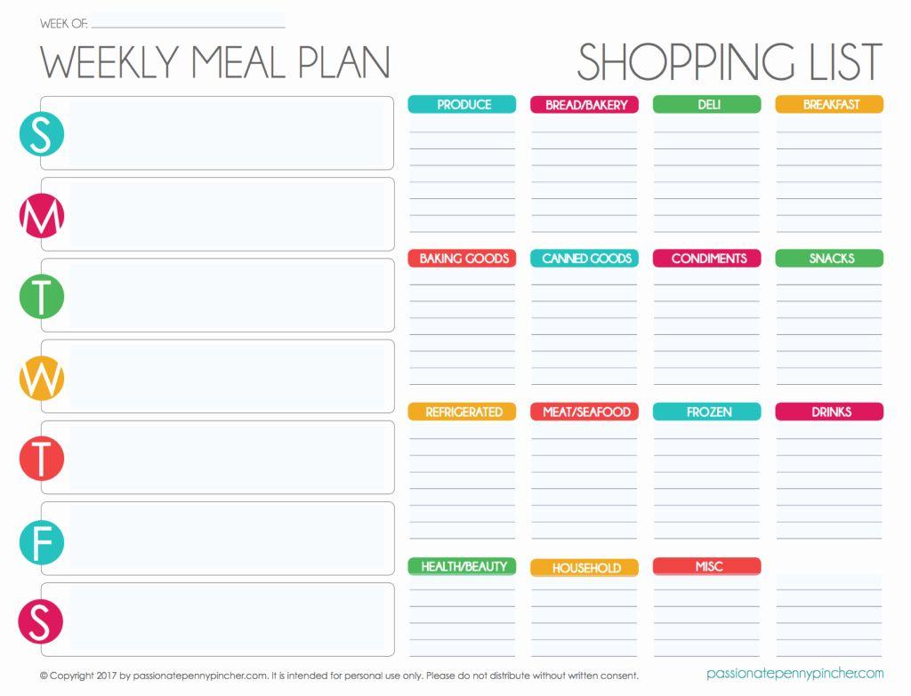 30 Menu Planner Template Excel In 2020 Planner Template Menu