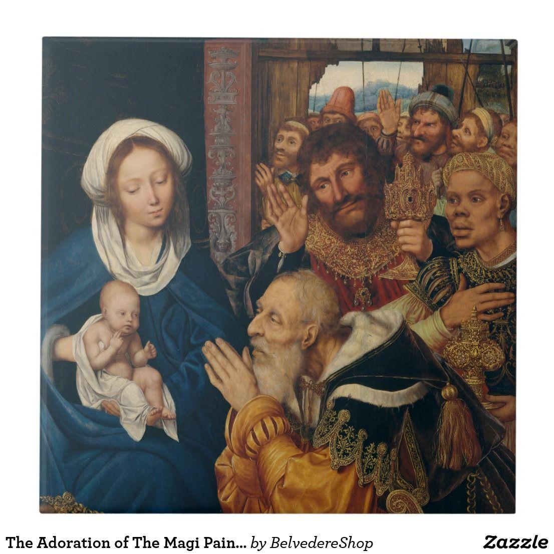 Home Decor Adoration of the Magi altarpiece Canvas Wall Art Print