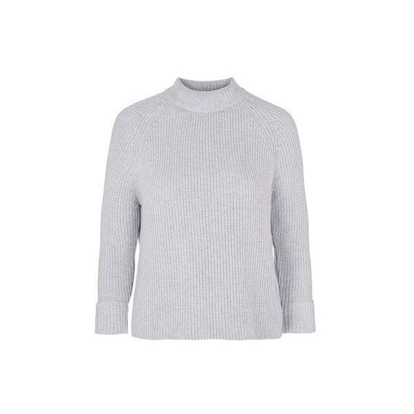 TopShop Cotton Boxy Jumper ($45) ❤ liked on Polyvore featuring ...