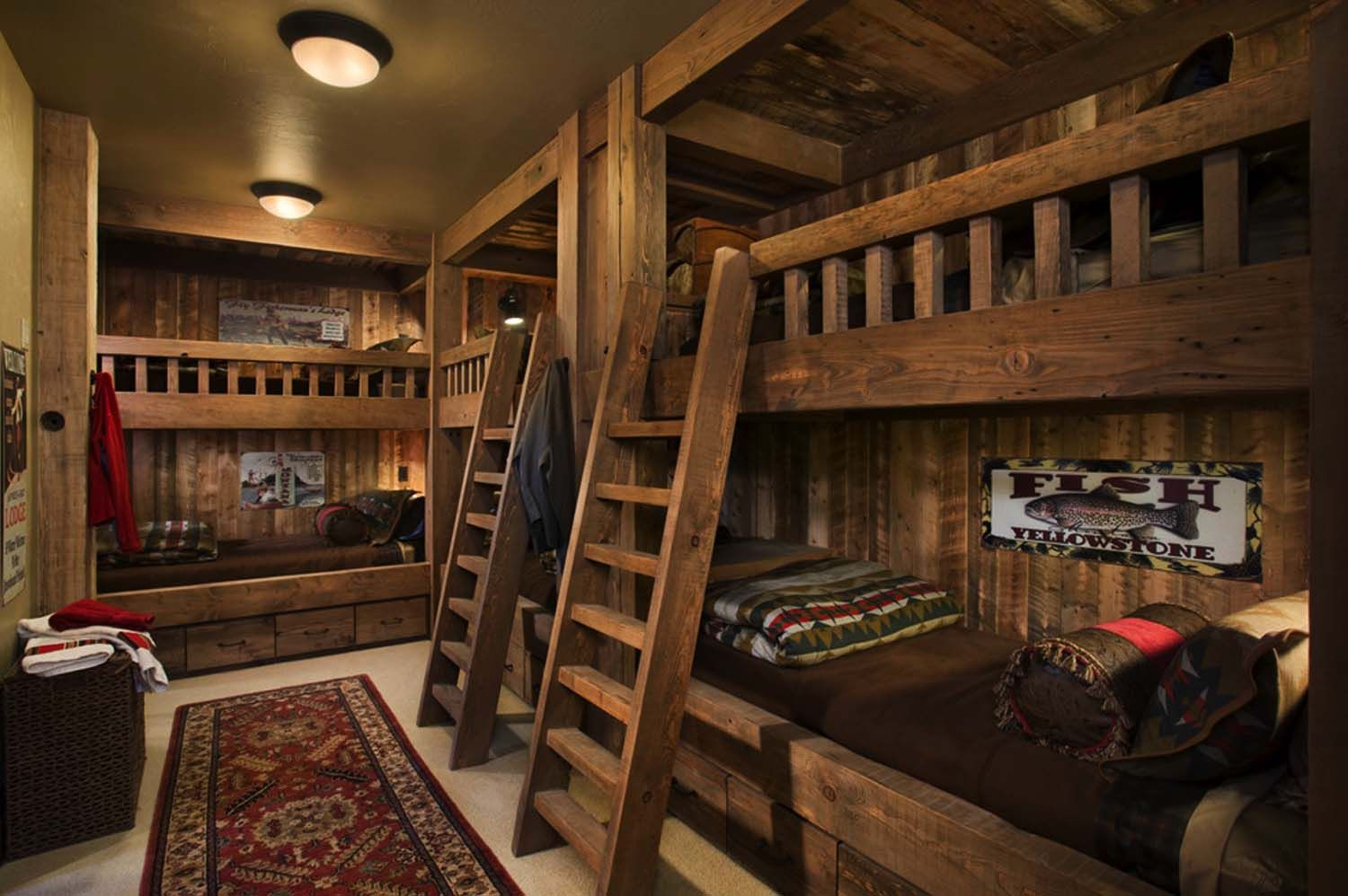 Handcrafted Timber Frame Home With Astonishing Rocky Mountain Views Log Homes Bunk Beds Built In Built In Bunks