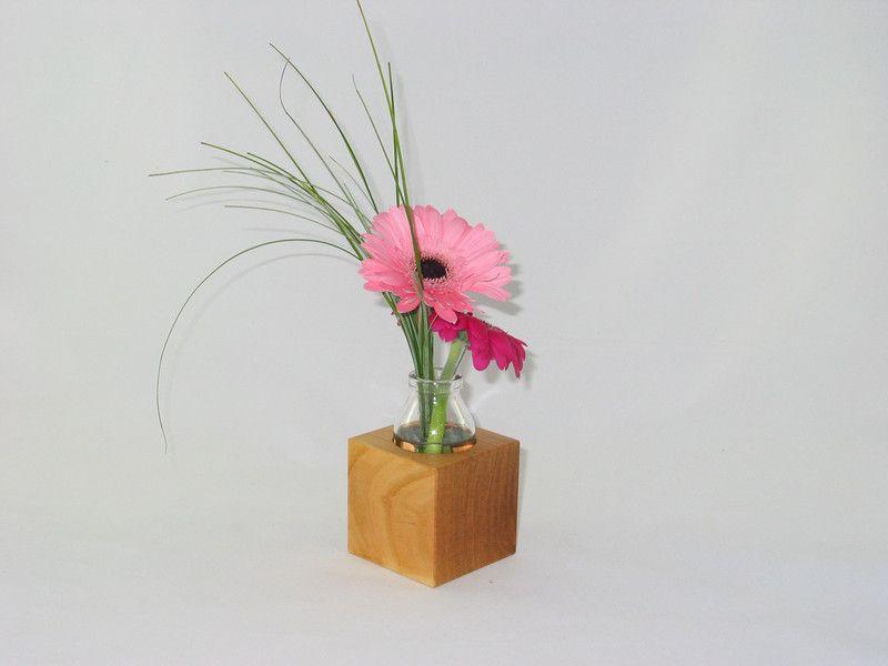 Blumen Blumenvase Blumentopf Übertopf Holz Sukkulenten Pflanzen Tischdeko Deko  Dekoration Glasvase Holzvase Topf Geschenk Muttertag Hochzeit