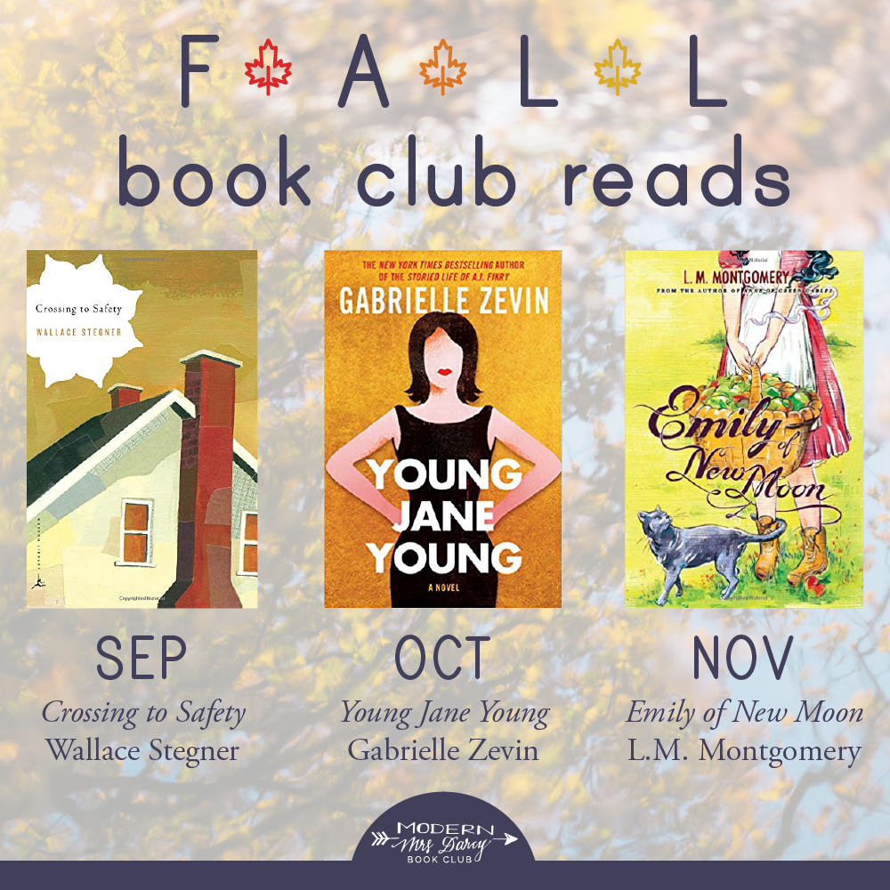 Announcing Our Fall Book Club Picks Modern Mrs Darcy Fallen Book Books Book Club Reads