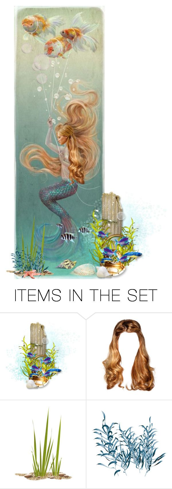 """Under Water Dreams"" by chileez ❤ liked on Polyvore featuring art"