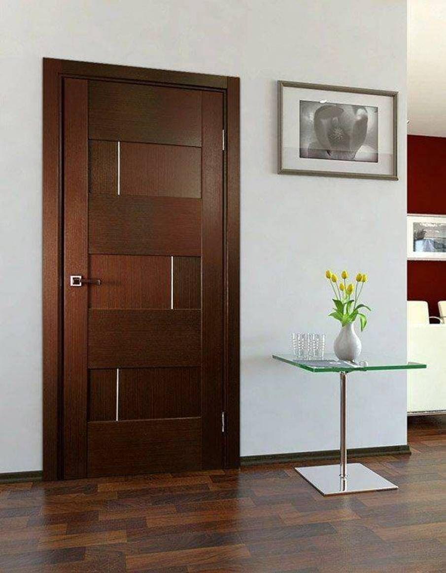 Home Design And Decor , Contemporary Door Design For Interiors : Walnut  Contemporary Door Design