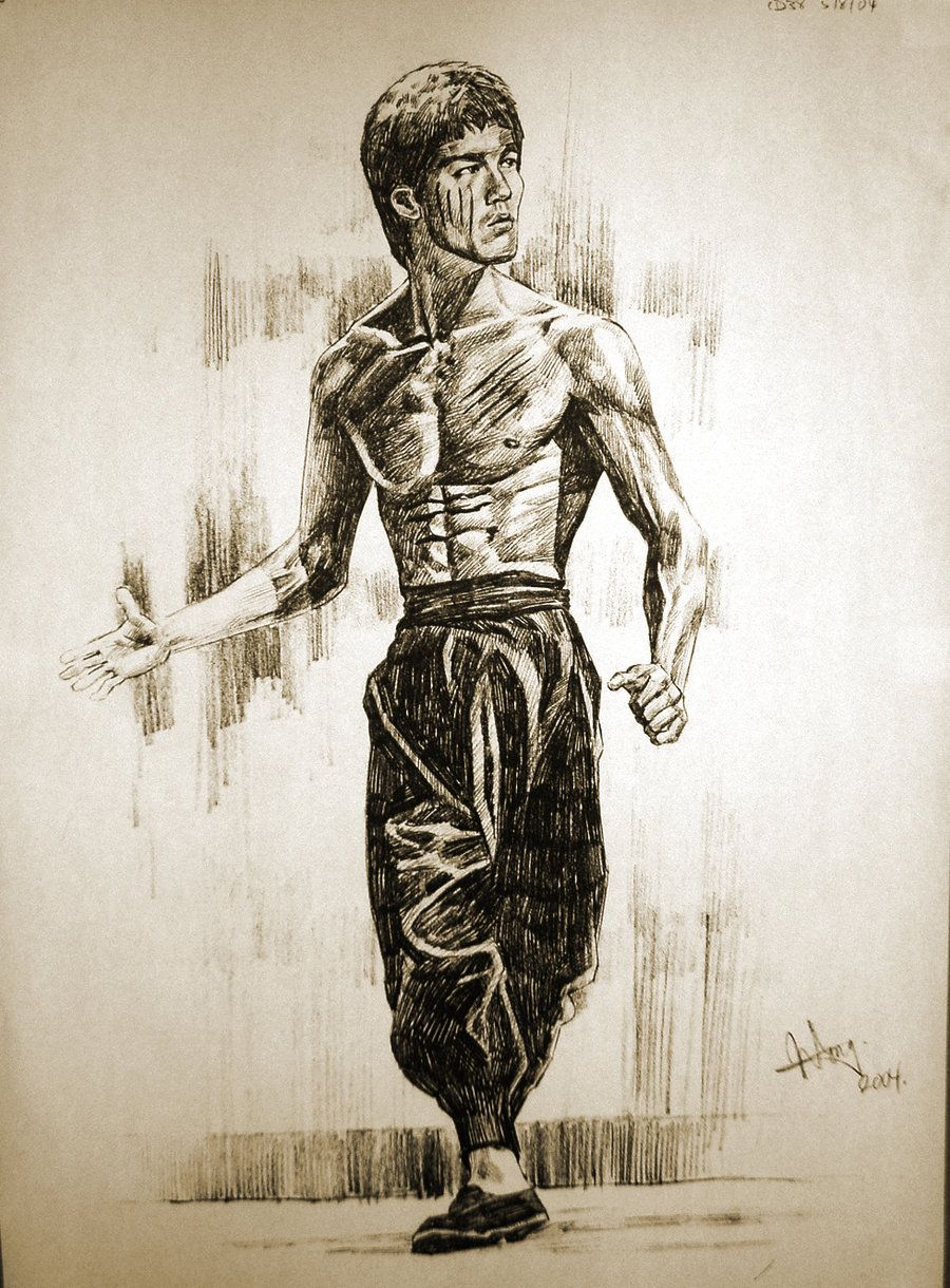 Bruce Lee By Aaronwty On Deviantart Excellent Drawing On My Idol Great Job Love It Bruce Lee Martial Arts Bruce Lee Art Bruce Lee