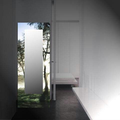 espejo con luz con la imagen que se desee bosque