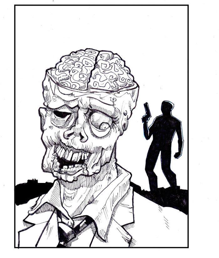 Zombie Destroy Coloring Pages Ausmalbilder Kinder