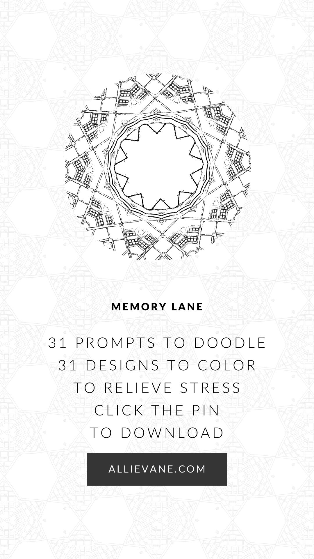 Memory Lane A Stress Relief Adult Coloring Book With