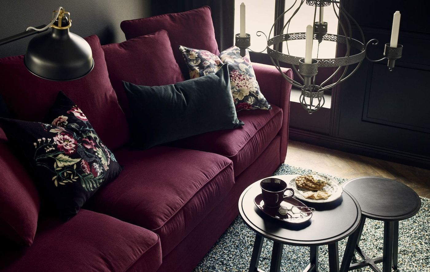 One Room Two Styles Burgundy Couch Living Room Red Sofa Living Room Burgundy Living Room
