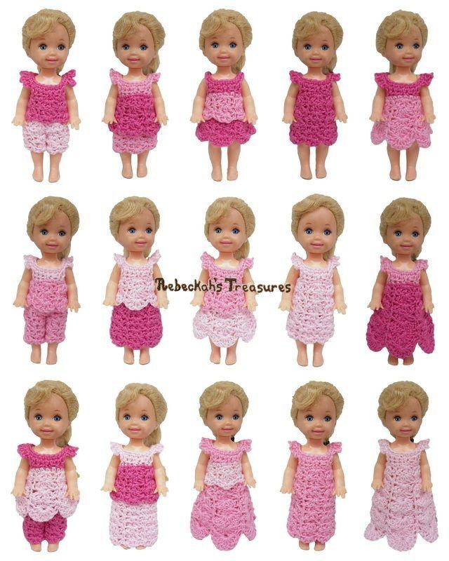 Pretty in Pink Free Crochet Pattern for Children Fashion Dolls by ...