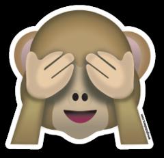 See No Evil Monkey Emojistickers Com Monkey Emoji Emoji Stickers Emoji