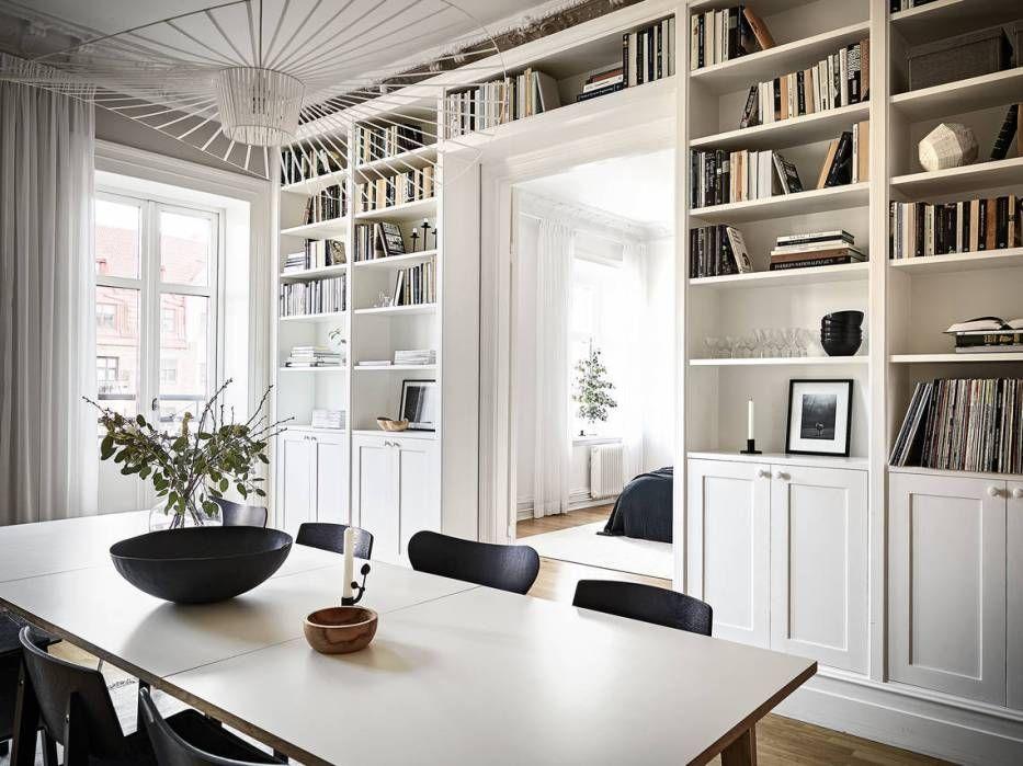 A Beautiful Wall Covering Book Shelf Via Coco Lapine Design Home My Scandinavian Home Scandinavian Home