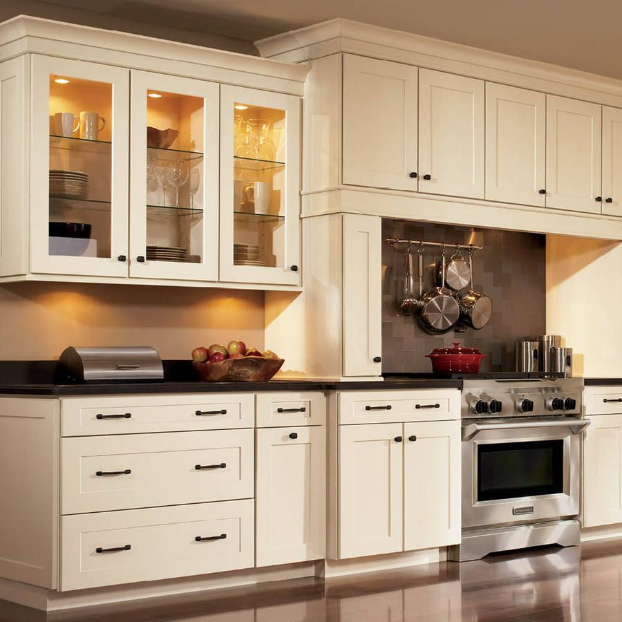 Shop Shenandoah Mission 145In X 145625In Silk Square Cabinet Cool Lowes White Kitchen Cabinets Inspiration