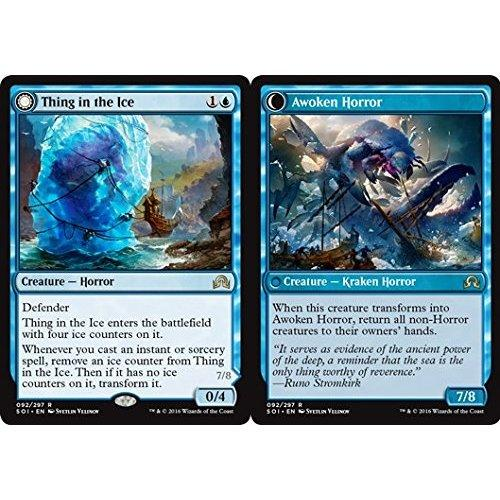 Blue Shadows over Innistrad Mtg Magic Rare 1x x1 1 FOIL Thing in the Ice