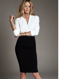 79e6472ad8 black pencil skirt with white blouse   Real Cute in 2019   Fashion ...